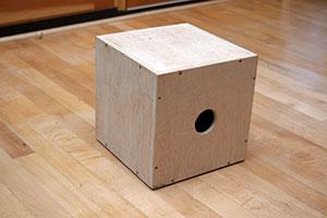Cajon drum made of plywood