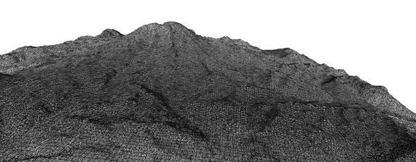 Meshlab rendering of Mt. Rainier