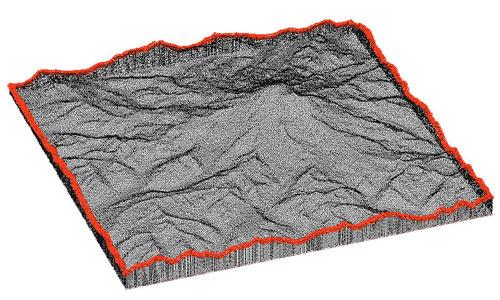 Mt. Rainier closed volume point cloud